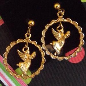 """Avon """"Soaring Angel"""" Dangle Pierce earrings"""